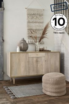 Amsterdam Light Textured Mango Wood Large Sideboard with Drawer