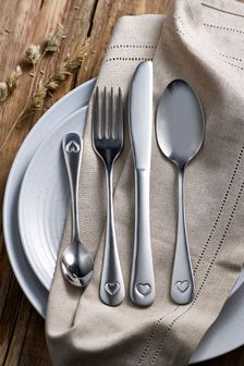 Heart 16pc Cutlery Set