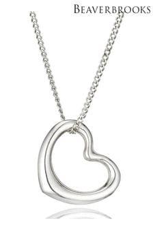 Beaverbrooks 9ct White Gold Heart Pendant