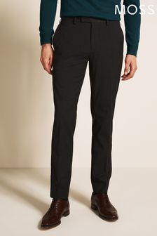 Moss 1851 Tailored Fit Machine Washable Charcoal Trousers
