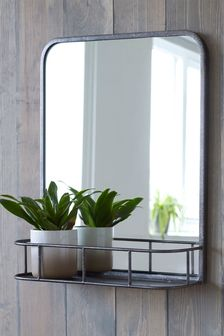 Hudson Mirror With Shelf