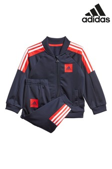 adidas Infant Navy/Red Poly Tracksuit