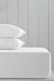 White Cotton Rich Extra Deep Fitted Sheet