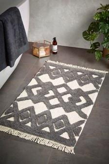 Tufted Diamond Pattern Bath Mat