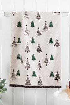 Green Scandi Trees Towel