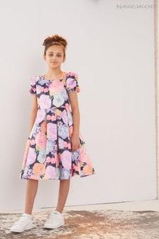 Angel & Rocket Watercolour Floral Puff Sleeve Dress