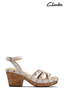Clarks White Interest Maritsa70 Sun Sandals