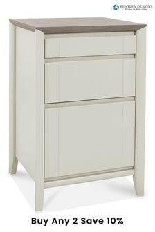 Bergen Grey Washed Oak Soft Grey Filing Cabinet by Bentley Designs