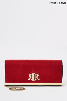 River Island Red Baguette Clutch Bag