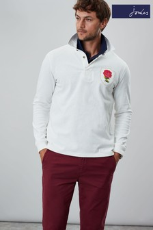 Joules Cream Glory Embellished Rugby Shirt