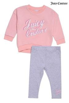 Juicy Couture Crew Neck Top and Legging Set