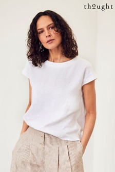 Thought White Erin Shell Top
