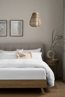 White 100% Cotton Supersoft Brushed Fitted Sheet