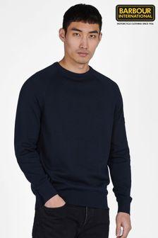 Barbour International Blue Cotton Crew-Neck Sweater