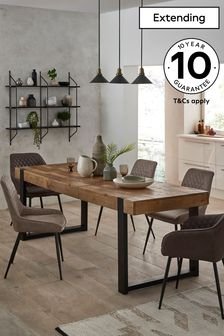 Jefferson Pine 6 to 8 Seater Extending Dining Table