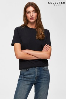 Selected Femme Black Perfect T-Shirt