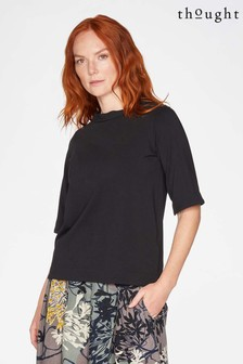Thought Black Naomi Tie Back Top