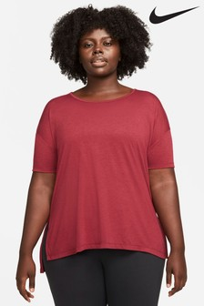 Nike Red Curve Yoga Layering Top