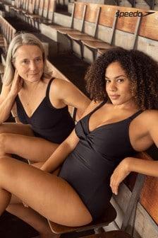 Speedo® Sculpture Black Watergem Adjustable Swimsuit