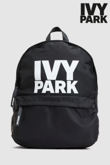 Ivy Park Black Logo Backpack