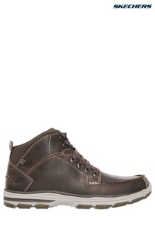 Skechers® Brown Mid Moc Toe Lace-Up Boot