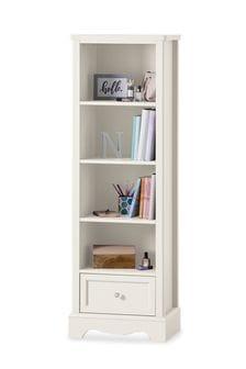 Amelia White Storage Bookcase