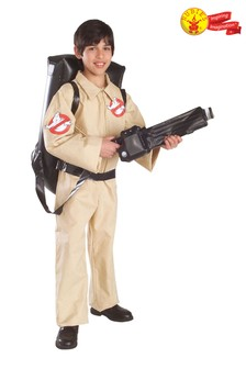 Rubies Ghostbuster Jumpsuit Fancy Dress Costume With Inflatable Backpack