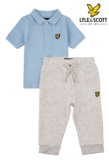 Lyle & Scott Boys Tipped Polo And LB Joggers Set