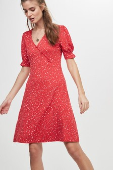 Print Button Dress