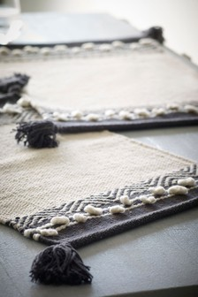 Set of 2 Large Hand Woven Placemats