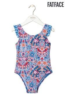 FatFace Blue Rainforest Floral Swimsuit