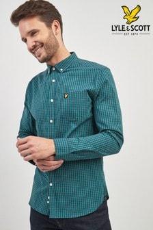 Lyle & Scott Long Sleeve Gingham Check Shirt