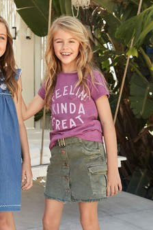Utility Denim Skirt (3-16yrs)
