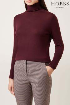 Hobbs Bordeaux Lara Roll Neck Sweater