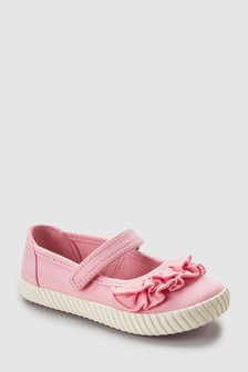 Ruffle Mary Jane Pumps (Younger)