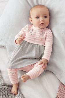 Bunny Dress And Leggings Set (0mths-2yrs)
