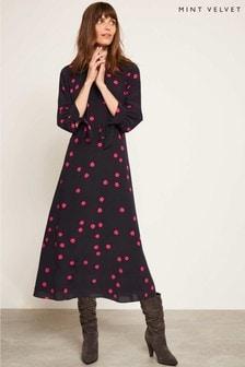 Mint Velvet Blue Brynn Print Midi Dress