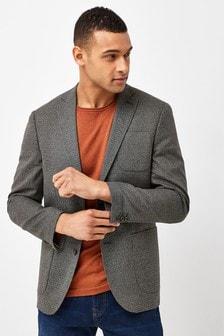 Micro Check Slim Fit Blazer