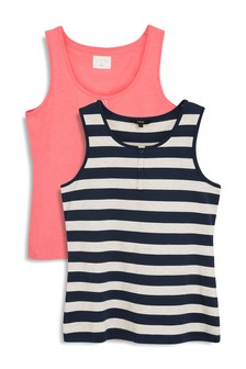 Cotton Rich Vests Two Pack