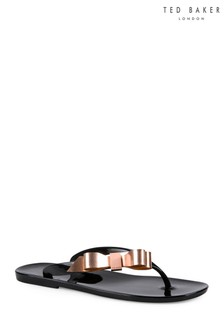 Ted Baker Black Suszie Bow Jelly Flip Flop