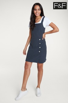 F&F Multi Spot Pinny Dress