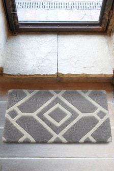 Indoor Lattice Grey Doormat