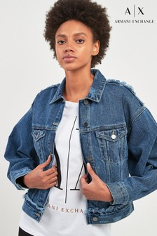 Armani Exchange Raw Edge Denim Jacket