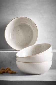 Reactive Set of 4 Pasta Bowls