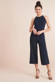 Halter Lace Back Jumpsuit
