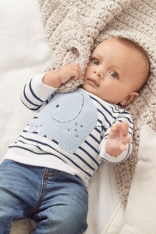 Stripe Elephant Sweater (0mths-2yrs)