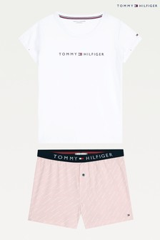 Tommy Hilfiger White Original Jersey Short Set
