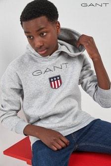 GANT Teen Grey Shield Sweat Hoody