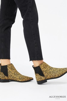 Accessorize Leopard Print Ankle Boot