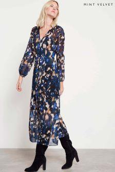 Mint Velvet Langley Print Midi Dress